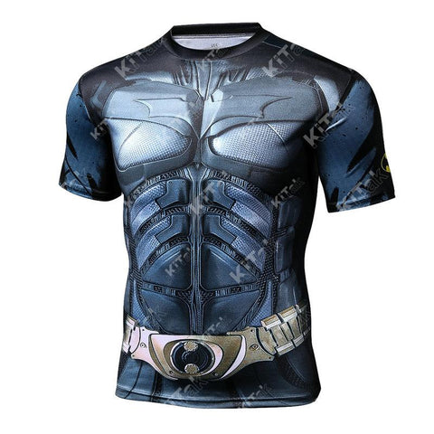 Batman Workout Compression T Shirts (Man of Steel)