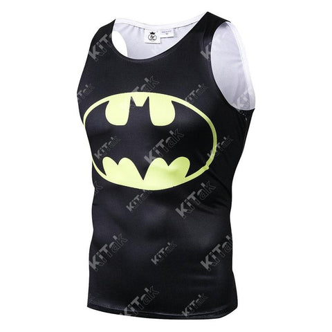 Batman Workout Compression Tank Tops for Men(2013: The Dark Knight Returns)