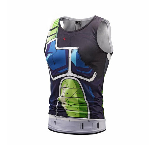 Battle Damaged Onyx Bardock Cosplay Training Compression Tank Tops for Men Fitness - Cosplay Fitness | KiTak