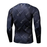 Black Panther Workout Compression Long Sleeves for Men(2016: Civil War)