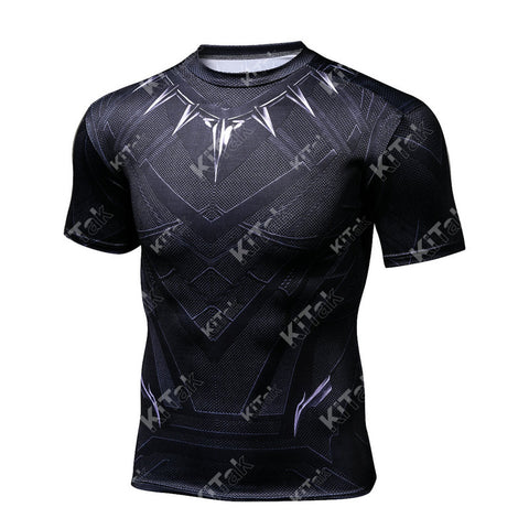 Black Panther Workout Compression T Shirts (2016: Civil War)