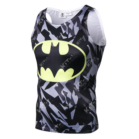 Camouflage Batman Workout Compression Tank Tops (2013: The Dark Knight Returns)