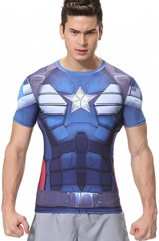 Captain America Workout Compresson T Shirts for Men 2