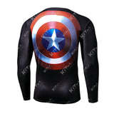 Captain America Workout Compression Long Sleeves (2016: Civil War)
