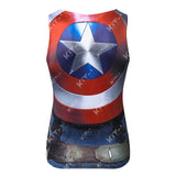 Captain America Workout Compression Tank Tops (2014: The Winter Soldier)
