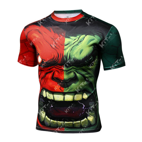 Fashion Hulk Cosplay Training Compression T-Shirts for Men Fitness