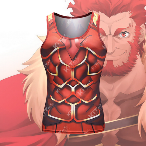 Anime Training Rider Iskandar Costume Workout Compression Tank Tops for Unisex (2018)