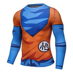 Goku GO Kanji 2.0 Workout Compression Long Sleeves for Men