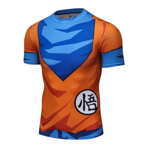 Goku GO Kanji 2.0 Workout Compression T Shirts for Men