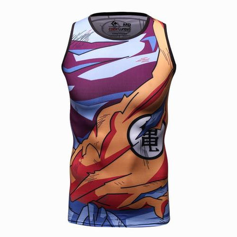 Battle Damaged Son Goku Cosplay Training Compression Tank Tops for Men Fitness 2.0 - Cosplay Fitness | KiTak