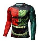 Fashion Hulk Cosplay Training Compression Long Sleeves for Men Fitness