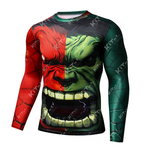 Fashion Hulk Workout Compression Long Sleeves