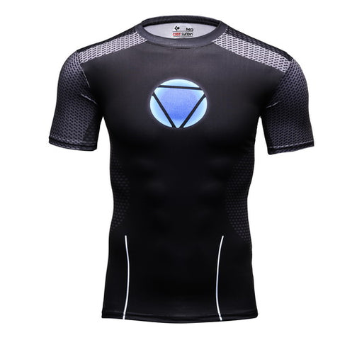 Iron Man Cosplay Training Compression T-Shirts for Men Fitness 2