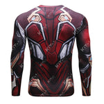 Iron Man Cosplay Training Compression Long Sleeves for Men Fitness(BLEEDING EDGE from 2018 Avengers: Infinity War)