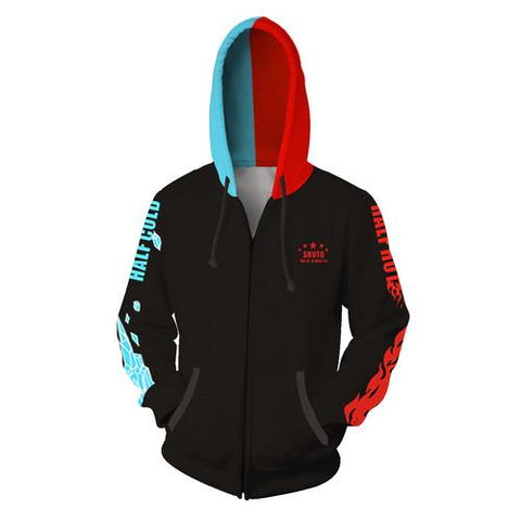 Shoto Todoroki Training Warm Up Full Zip Hoodies 2 - Unisex