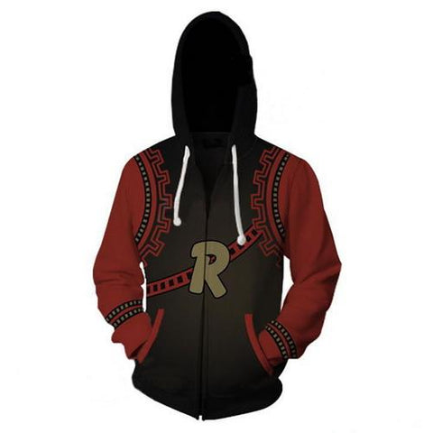 Kirishima Eijiro Training Warm Up Full Zip Hoodies - Unisex