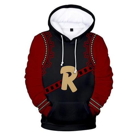 Kirishima Eijiro Training Warm Up Pullover Hoodies - Unisex Fitness - Cosplay Fitness | KiTak