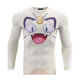 Meowth Workout Compression Long Sleeves for Men