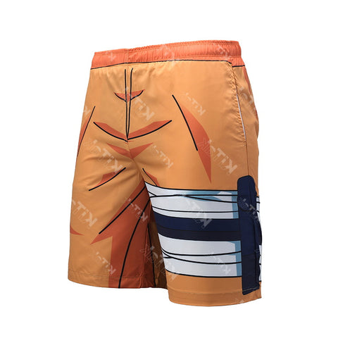 Naruto Cosplay Training Basketball Shorts for Men Fitness