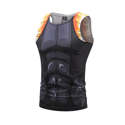 Anime Training ONYX Xeno Gogeta Costume Workout Compression Tank Tops for Men