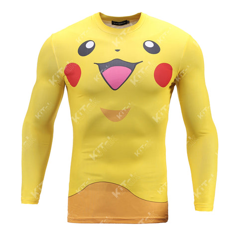 Pikachu Workout Compression Long Sleeves for men