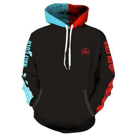 Shoto Todoroki Training Warm Up Pullover Hoodies- Unisex