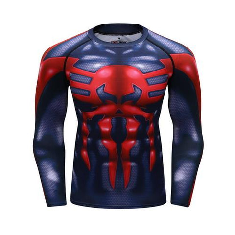 Spider-Man Workout Compression Long Sleeves for Men 01