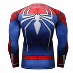 Spider-Man Cosplay Training Compression Long Sleeves for Men Fitness 08 - Cosplay Fitness | KiTak