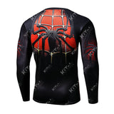 Spider-Man Workout Compression Long Sleeves (Black-Red)