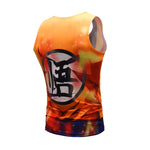 Super Saiyan God Goku Cosplay Training Compression Tank Tops for Men Fitness