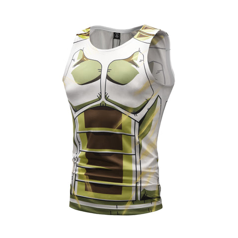 Anime Training Super Vegeta Costume Workout Compression Tank Tops for Men