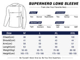Iron Man Cosplay Training Compression Long Sleeves for Men Fitness(White)