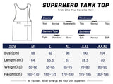 Hero Training Iron Man Costume Workout Compression Tank Tops for Men (White)