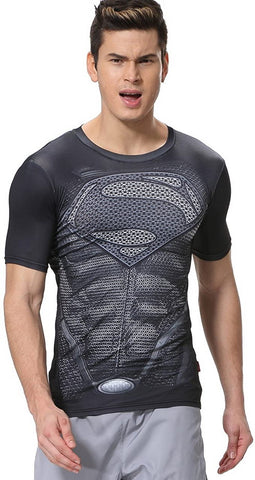 Superman Cosplay Training Compression T-Shirts for Men Fitness 10