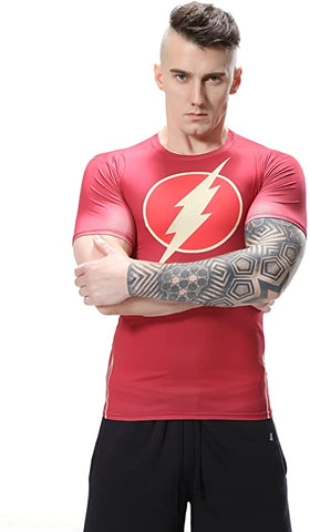 The Flash Cosplay Training Compression T-Shirts for Men Fitness 2