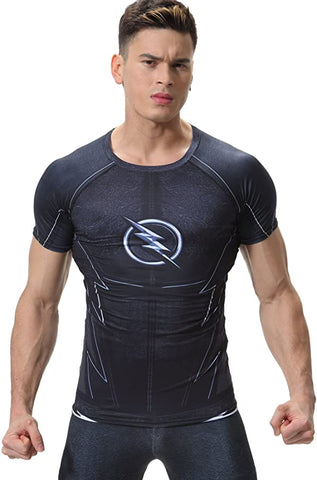 The Flash Cosplay Training Compression T-Shirts for Men Fitness 03