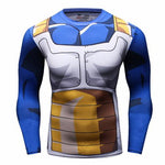Vegeta Cell Workout Compression Long Sleeves for Men 2.0