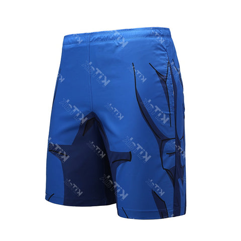 Anime Training Vegeta Cell Costume Workout Beach Shorts for Men