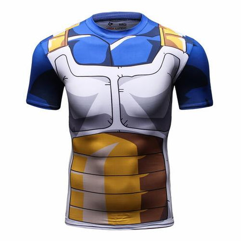 Vegeta Cell Workout Compression T Shirts for Men