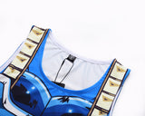 Vegeta SSB Limit Breaker Cosplay Training Compression Tank Tops for Men Fitness
