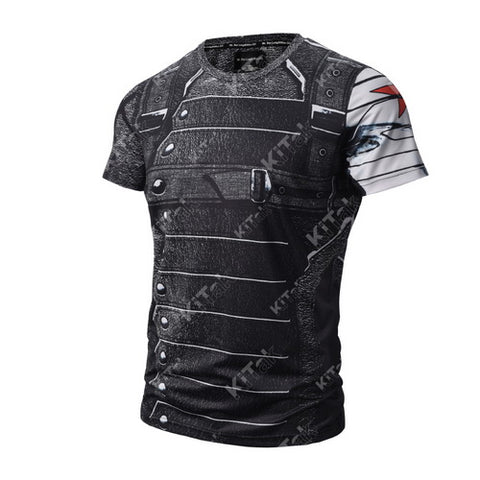 Winter Soldier Cosplay Training Compression T-Shirts for Men Fitness 3
