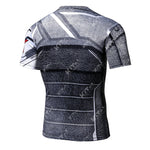 Winter Soldier Cosplay Training Compression T-Shirts for Men Fitness