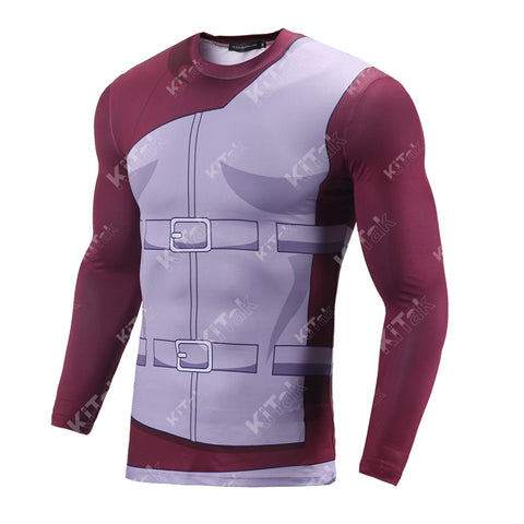 Naruto Gaara Workout Compression Long Sleeves for Men