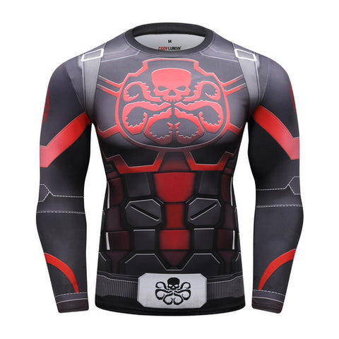 Captain America HYDRA Workout Compression Long Sleeves for Men
