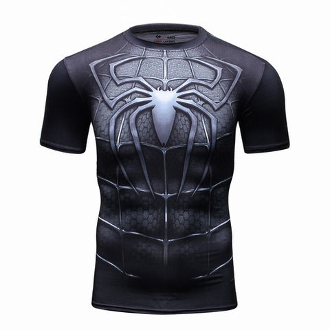 Spider-man Workout Compresson T Shirts for Men 5