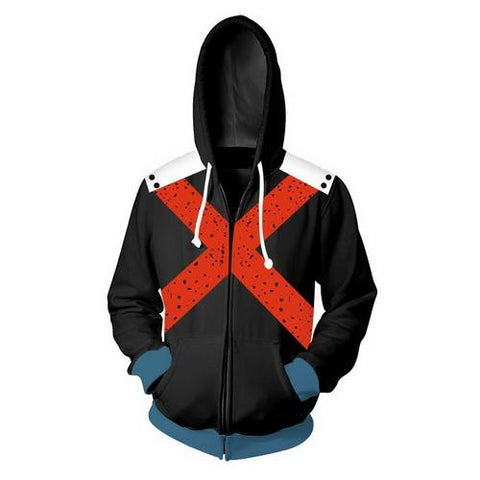 Bakugou Training Warm Up Full Zip Hoodies 3 - Unisex Fitness - Cosplay Fitness | KiTak