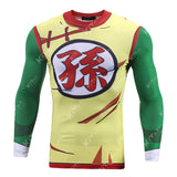Teen Goten Fashion Cosplay Training Compression Long Sleeves for Men Fitness