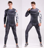 Winter Soldier Cosplay Training Compression Leggings for Men Fitness 1