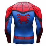 Spider-Man Cosplay Training Compression Long Sleeves for Men Fitness 05 - Cosplay Fitness | KiTak