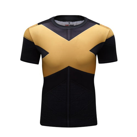 X-Men Dark Phoenix Cosplay Training Compression T-Shirts for Men Fitness